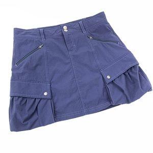 Athleta Skort Athletic Skirt Blue Pockets 4